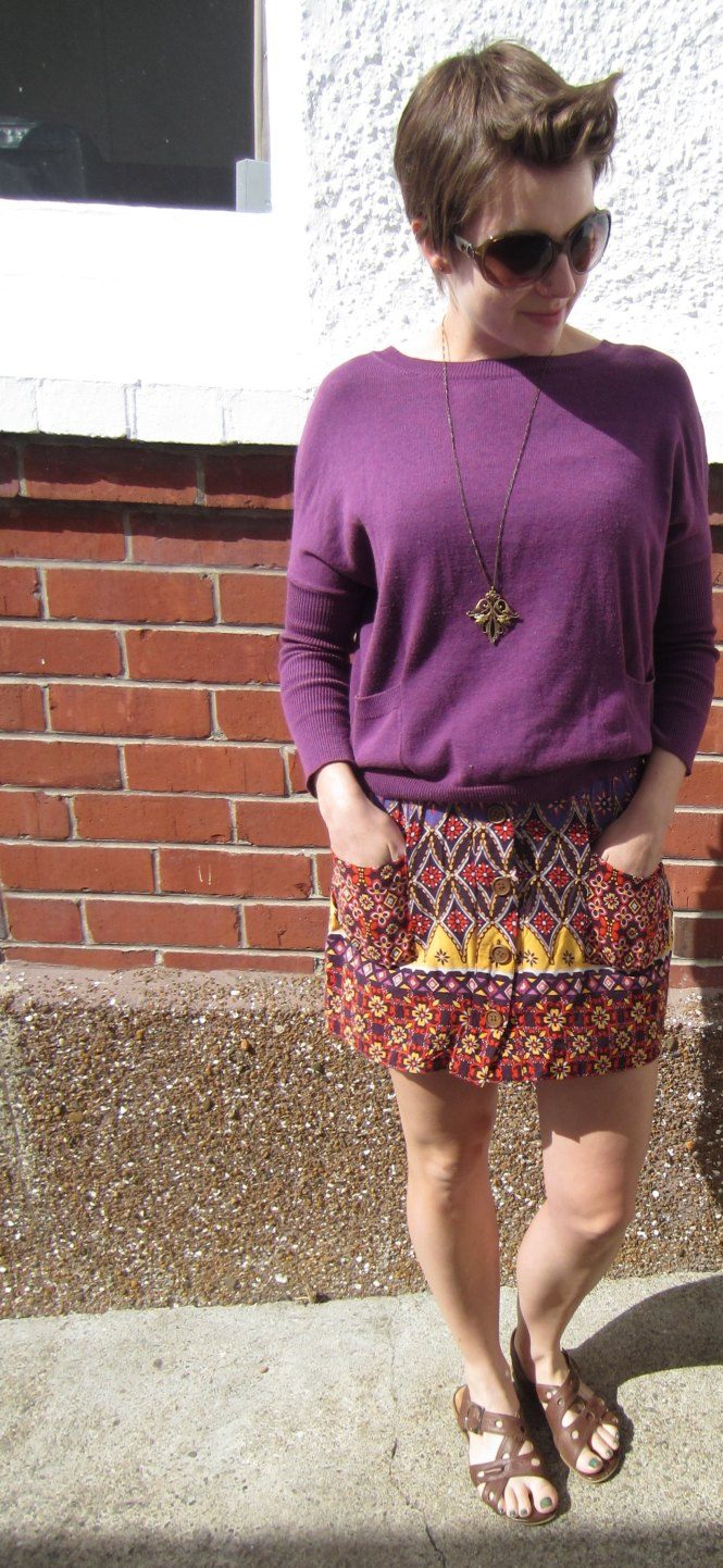 Here you can see the front - I've also paired it with a modcloth necklace