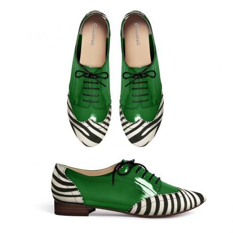 Green patent and zebra brogues!!