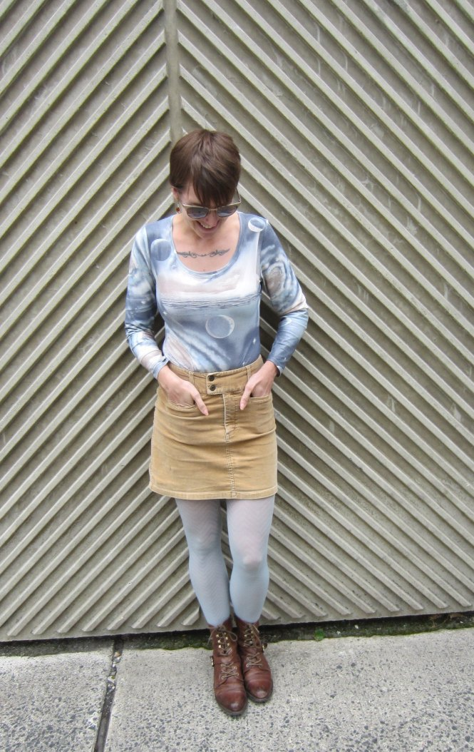 top: trademe, skirt: trademe, tights: anthropologie, boots: OTBT