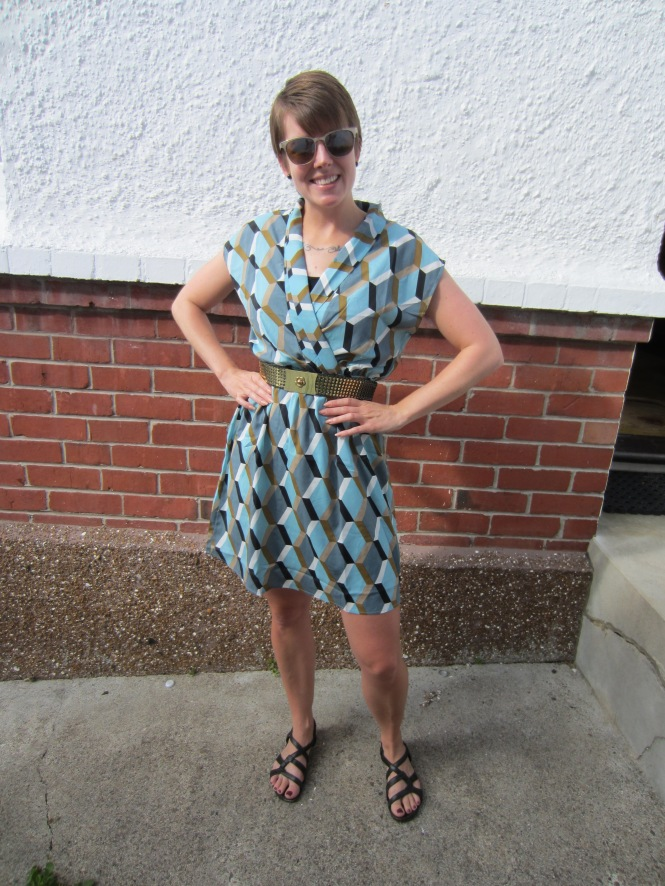 dress: modcloth, belt: trademe (thrifted), shoes: hush puppies