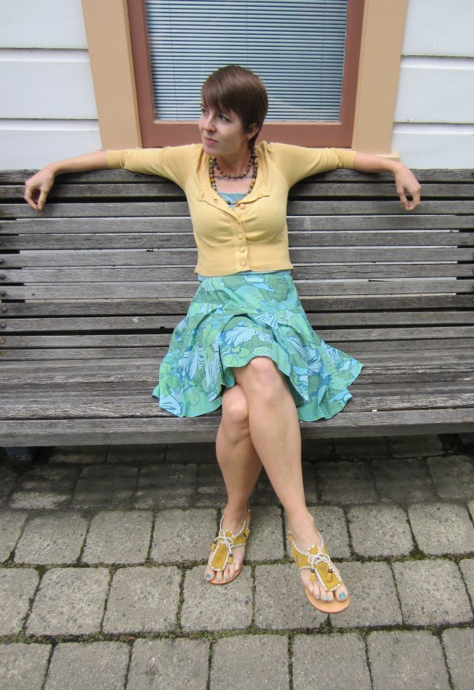 cardi: portmans, necklace: gift (feed my starving children), skirt: trademe, sandals: lovely people (via amazon.com)