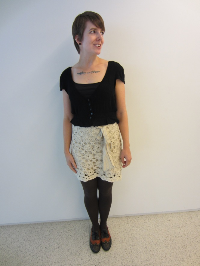 cardi: principals (via trademe), skirt: shopruche, shoes: jeffrey campbell (via freepeople)