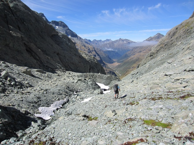 Looking down into the North Routeburn valley