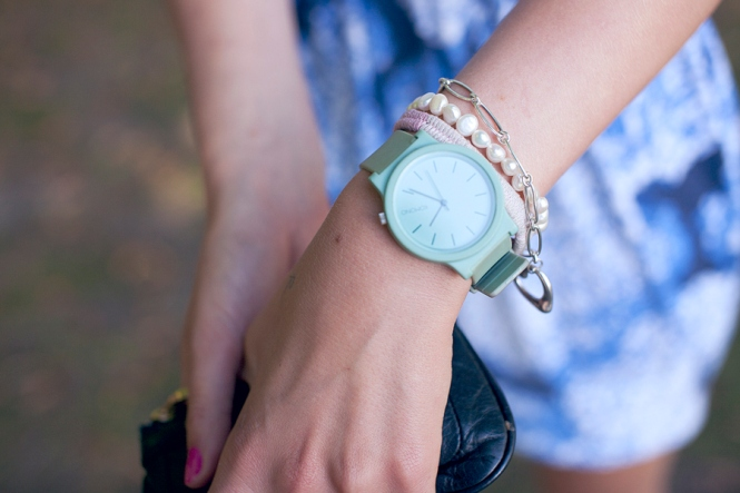 Gracie's mint-green watch