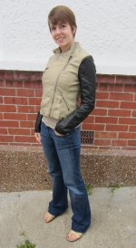 jacket: modcloth, jeans: seven for all mankind, shoes: old