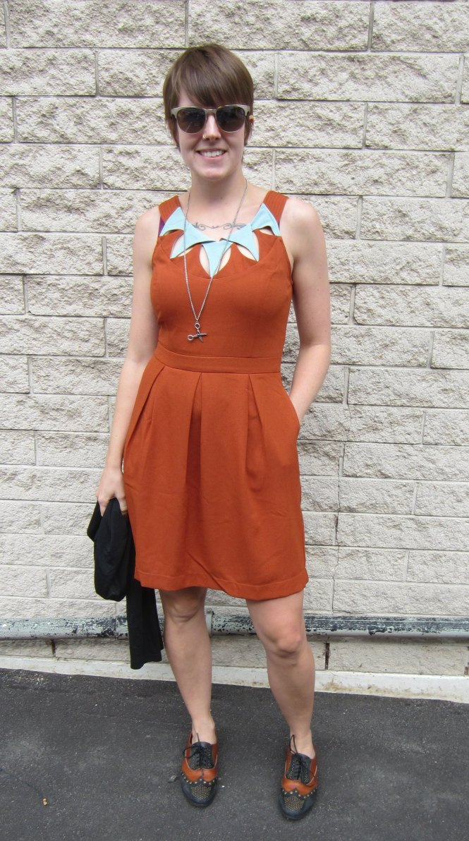 Dress: modcloth, necklace: boyfriend found on the footpath, shoes: jeffrey campbell x free people