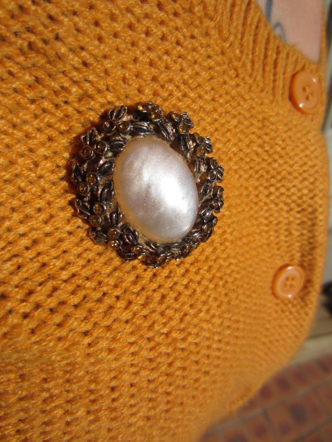 brooch detail