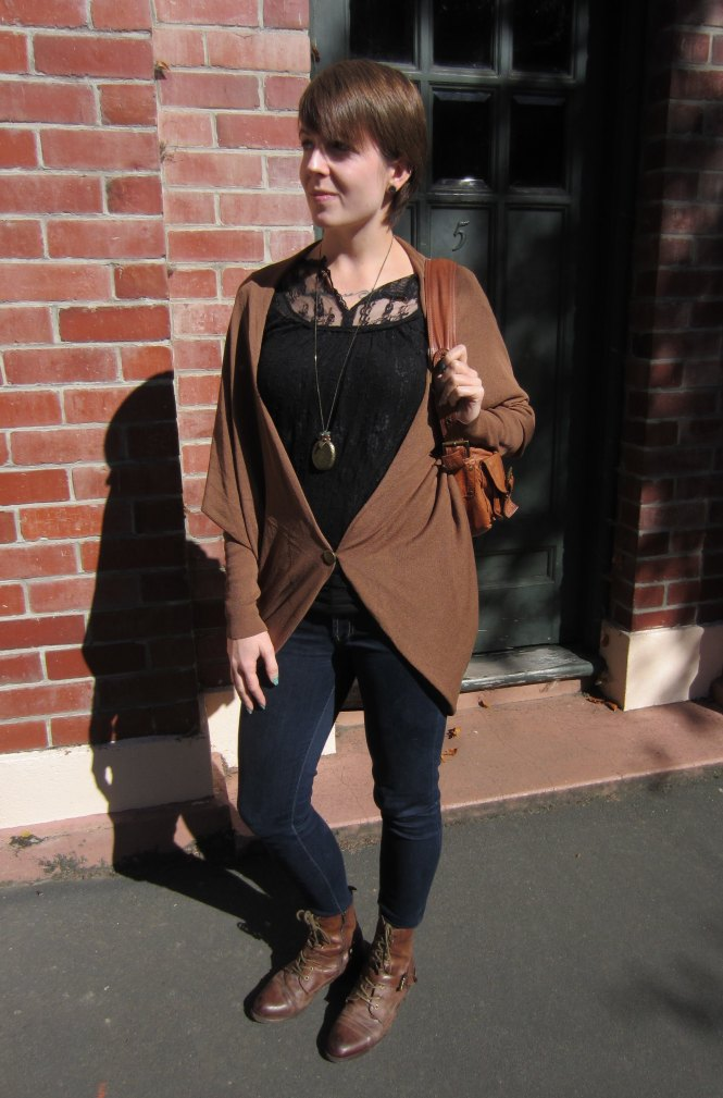 top: forever 21 (soo so old), cardi: witchery, jeans: 7 for all mankind, boots: OTBT, handbag: witchery