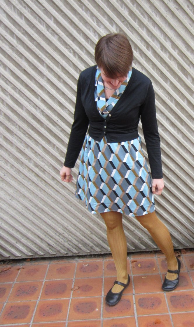 cardi: my ex-work, dress: modcloth, tights: anthropologie (old), shoes: dr. martens (old)