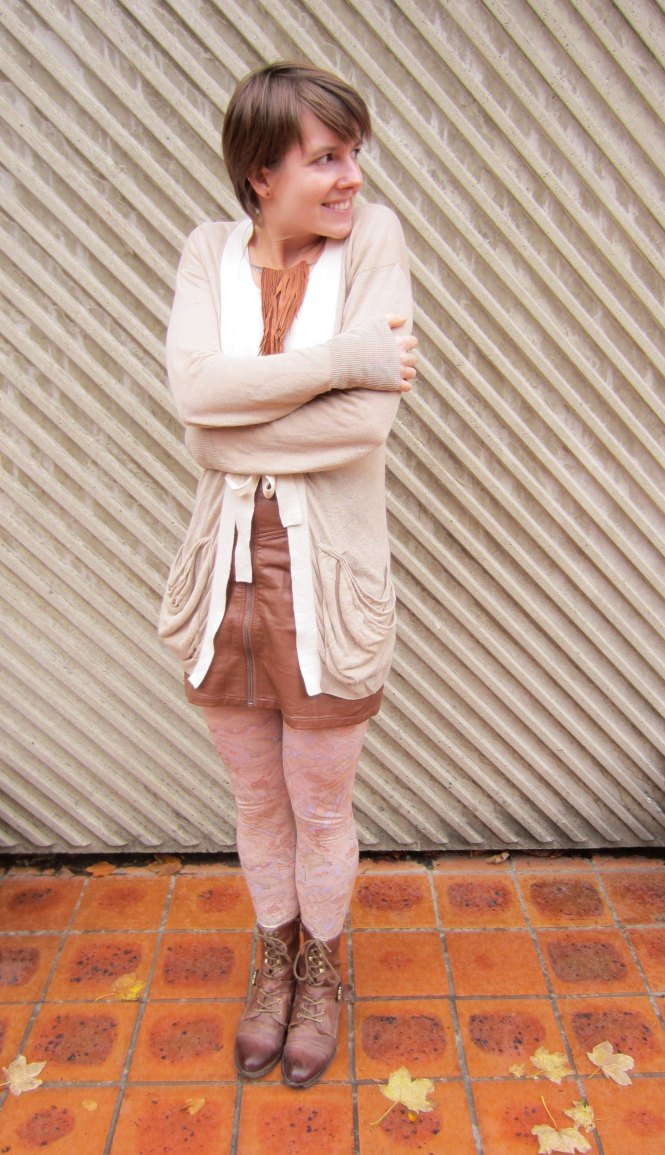 necklace: gottahave (gift, felt.co.nz), cardi: witchery, skirt: h & m, tights: celeste stein, boots: OTBT hutchinson