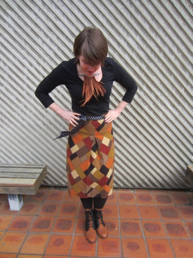 necklace: Gottahave (felt.co.nz), top: Portmans?, skirt: trademe, shoes: Jeffrey Campbell Showpony (via Nasty Gal)