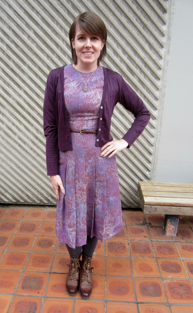 Cardi: my ex-work, dress: vintage, belt: came on a Modcloth dress, boots: OTBT