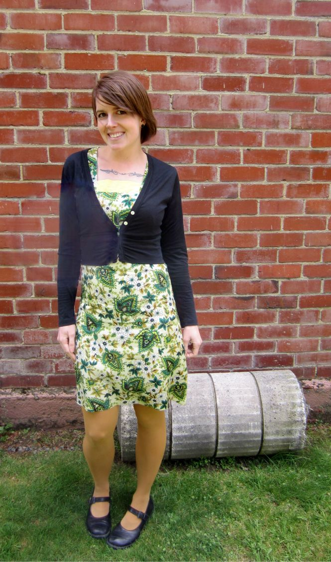 cardi: my ex-work, dress: vintage, shoes: dr. martens