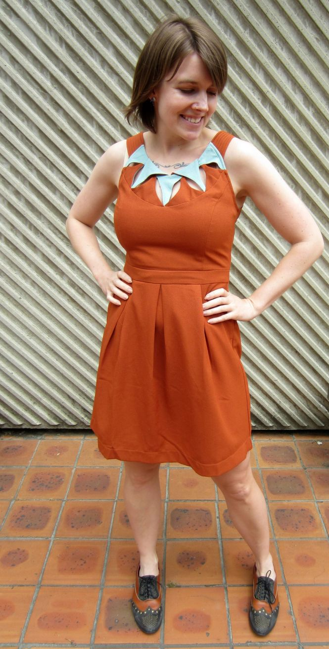 Love this modcloth dress - the colours and the neckline are both quite unusual!