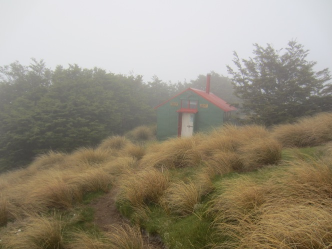 Day 2: Alpine hut, shrouded in fog