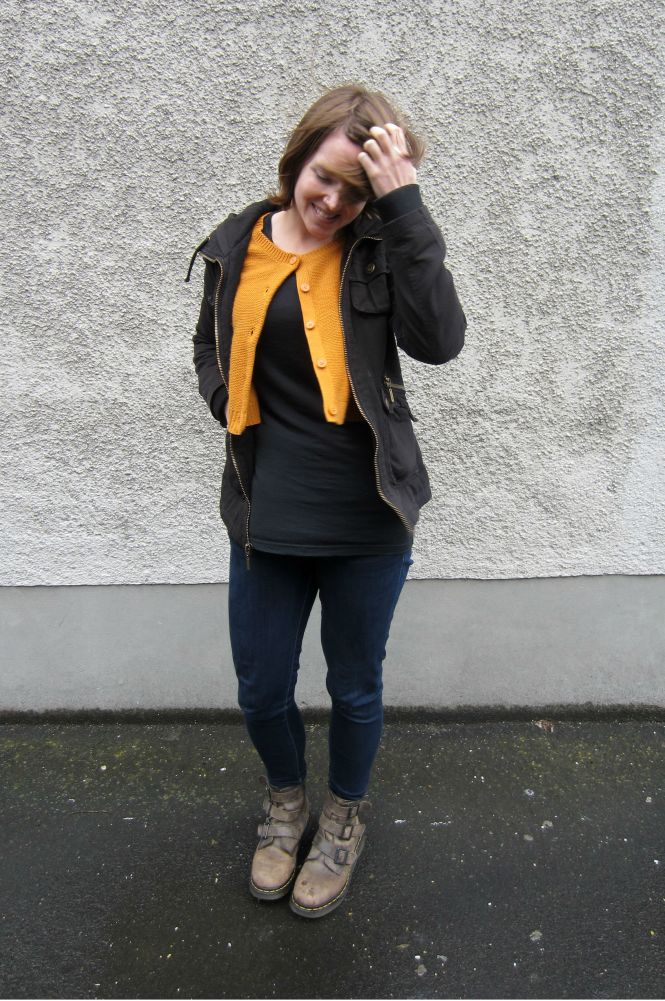 jacket: Jack by BB Dakota, jumper: H&M, tunic: my ex-work, jeans: 7forallmankind, boots: Dr. Marten