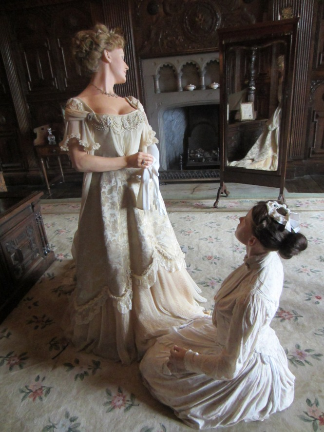 Wax figures in Warwick Castle.  Loved the dress, of course!