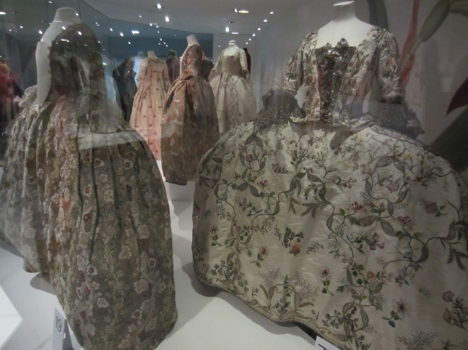 Mantua dresses at the Fashion Museum in Bath