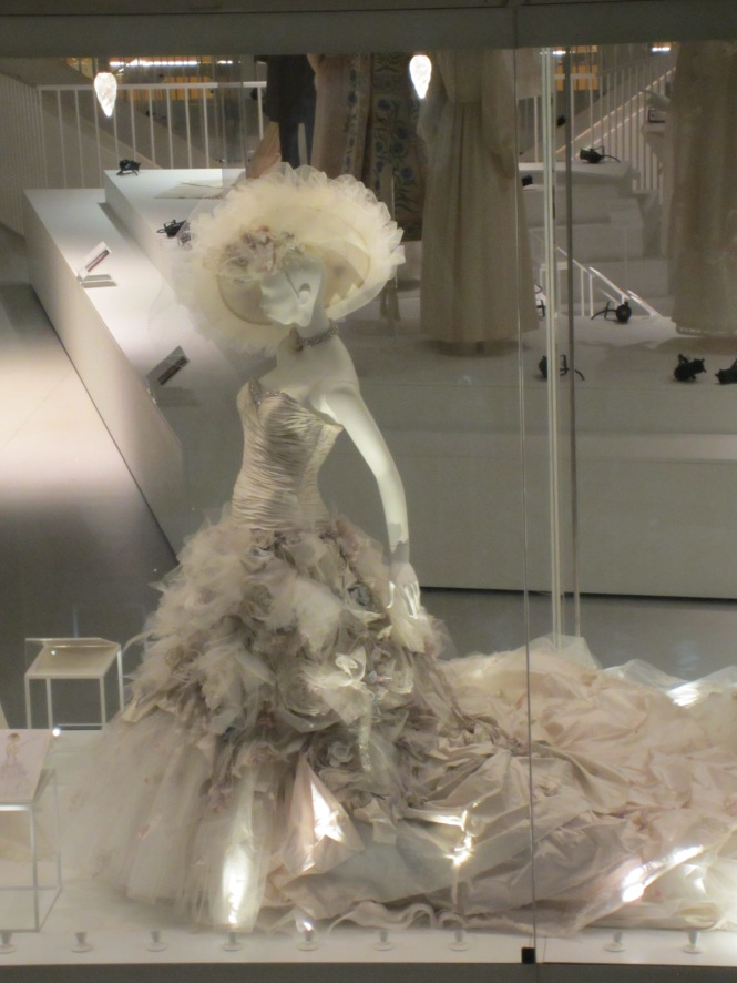 A sneak peak at the Wedding dress exhibition (opens May 5)