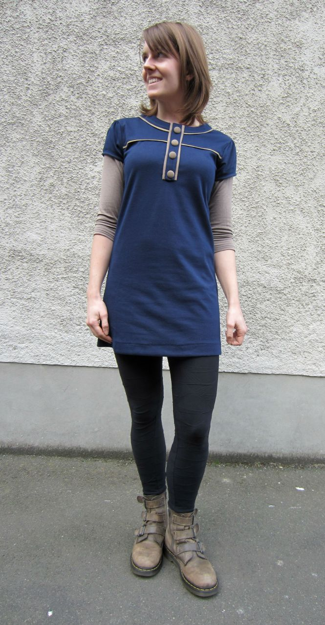 top: my ex-work, tunic: free from a friend (clothing swap), leggings: witchery, boots: dr. martens