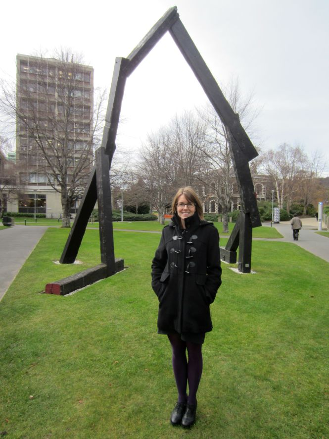 Me in front of what passes for sculpture in Dunedin