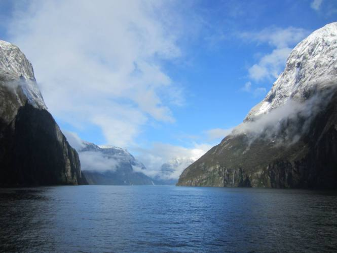 Milford Sound, complete with snow!