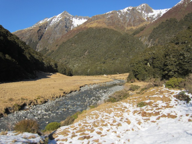 The valley, looking back up to Cameron hut