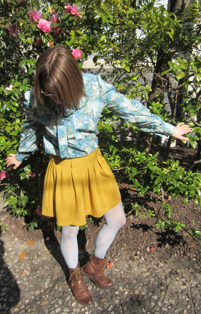 top: free (clothing swap), skirt: trademe, tights: anthropologie, boots: OTBT