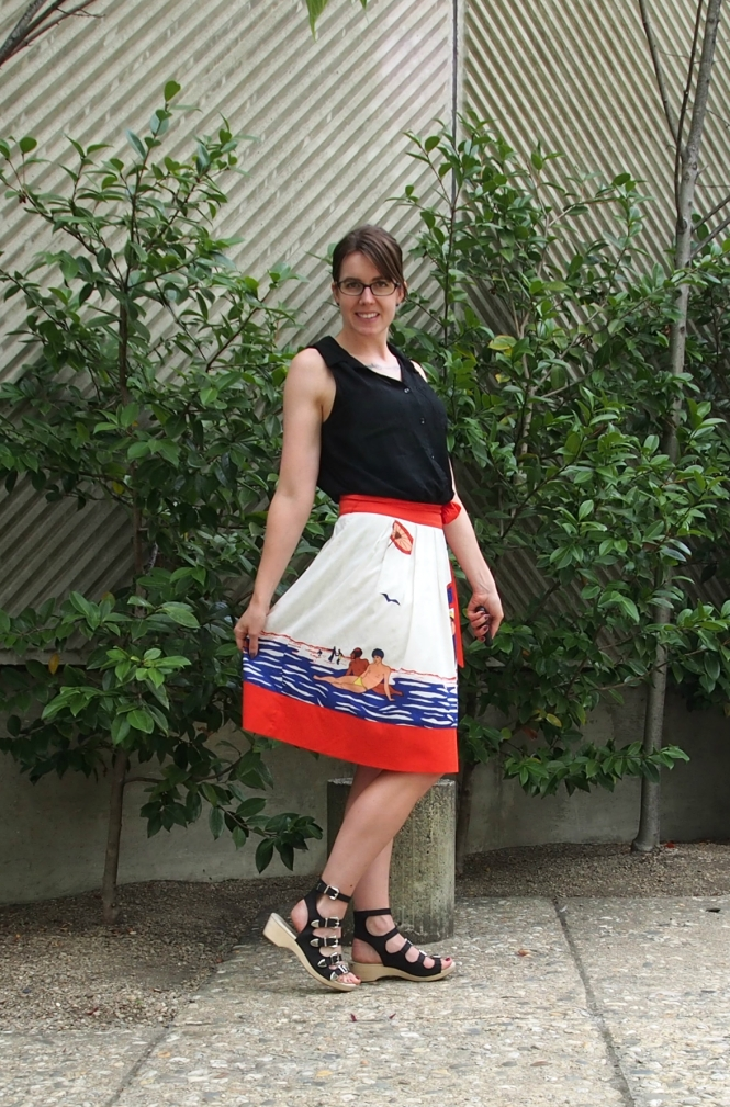 top: dotti?, skirt: modcloth, shoes: jeffrey campbell