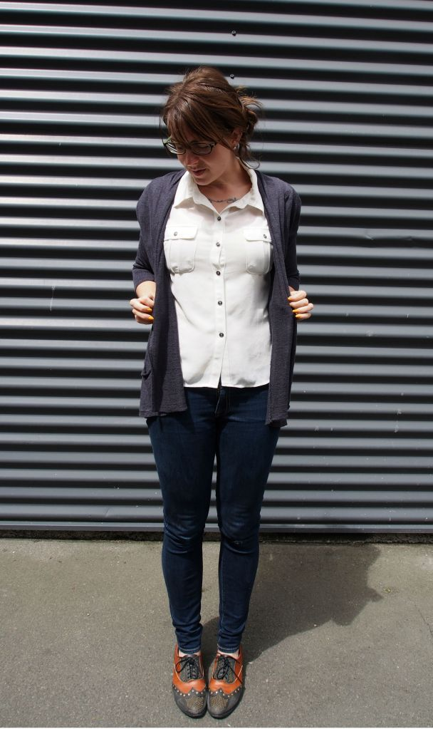 cardi: anthropologie, top: trademe, jeans: 7 for all mankind, shoes: jeffrey cambpell