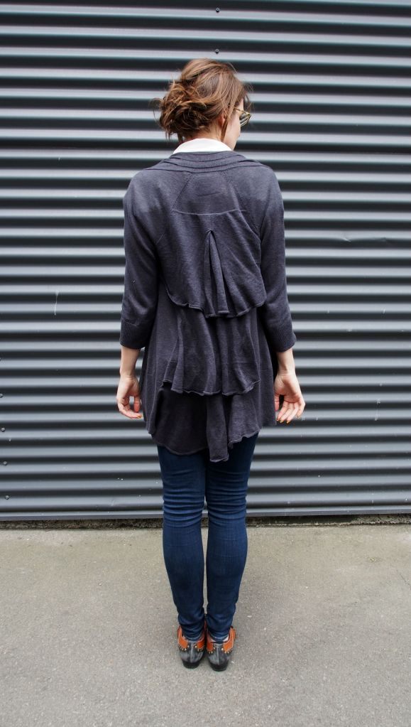 Waterfall cardigan - love.  Always get a ton of compliments when I wear this one.