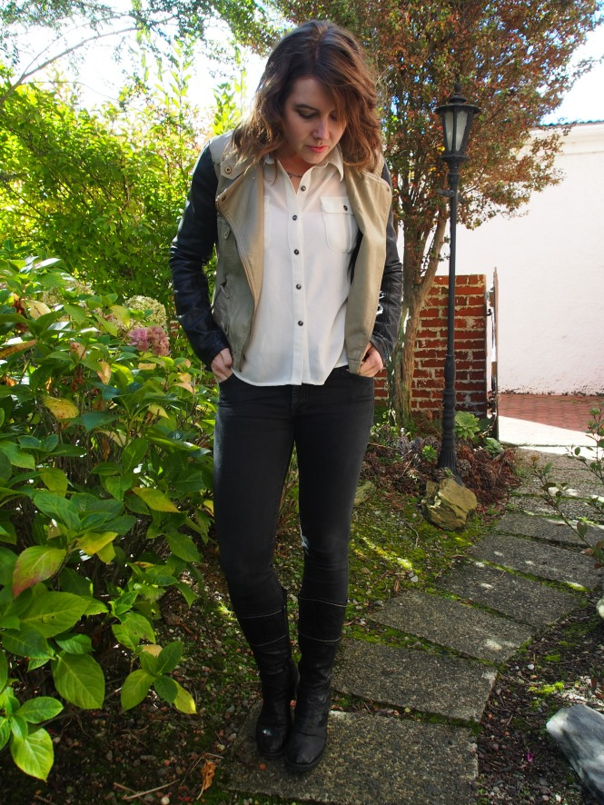 Jacket: modcloth, top: trademe, jeans: 7forallmankind, boots: Frames (Dunedin local store)