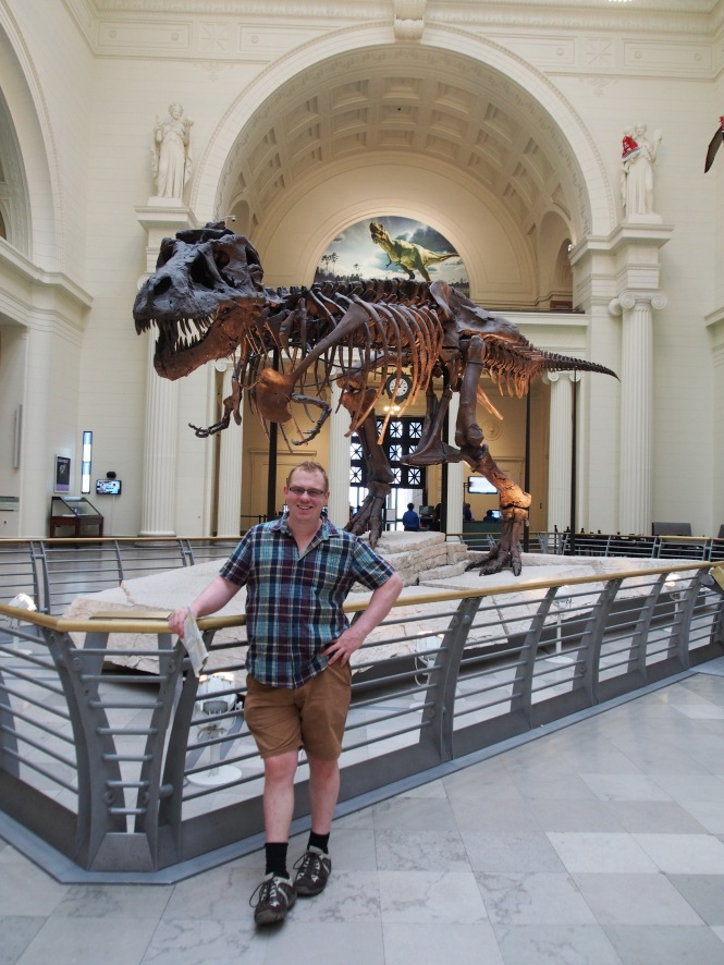 D and Sue the T-rex, at the Field Museum