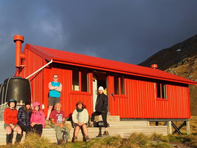 The fam at Brewster Hut!